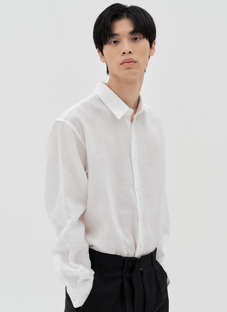 ラミー長袖シャツ(WHITE)