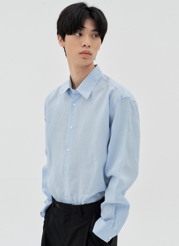 ラミー長袖シャツ(S.BLUE)