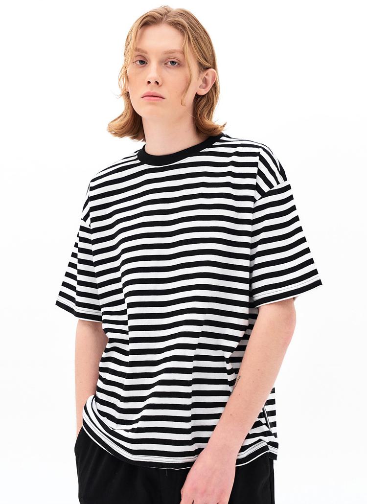 半袖ボーダーTシャツ(SM BLACK)
