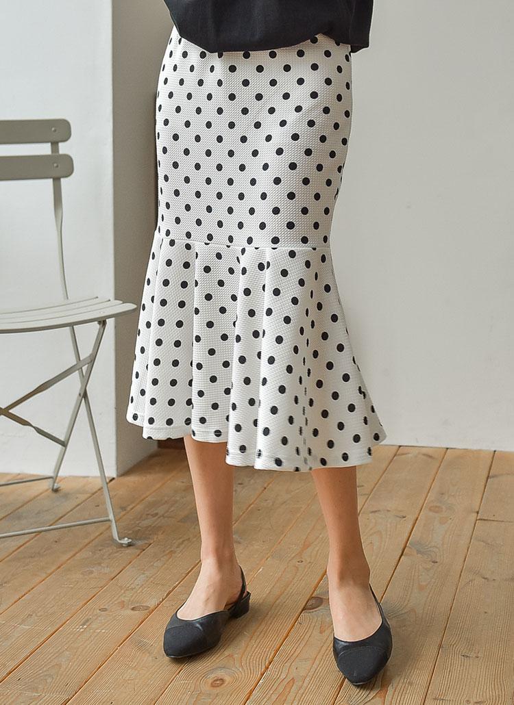 マーメイドドットスカート
