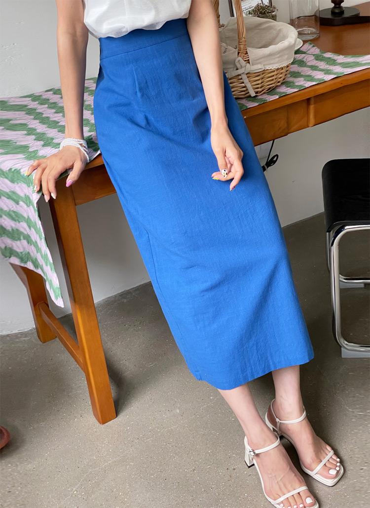 コットンHラインスカート・全4色