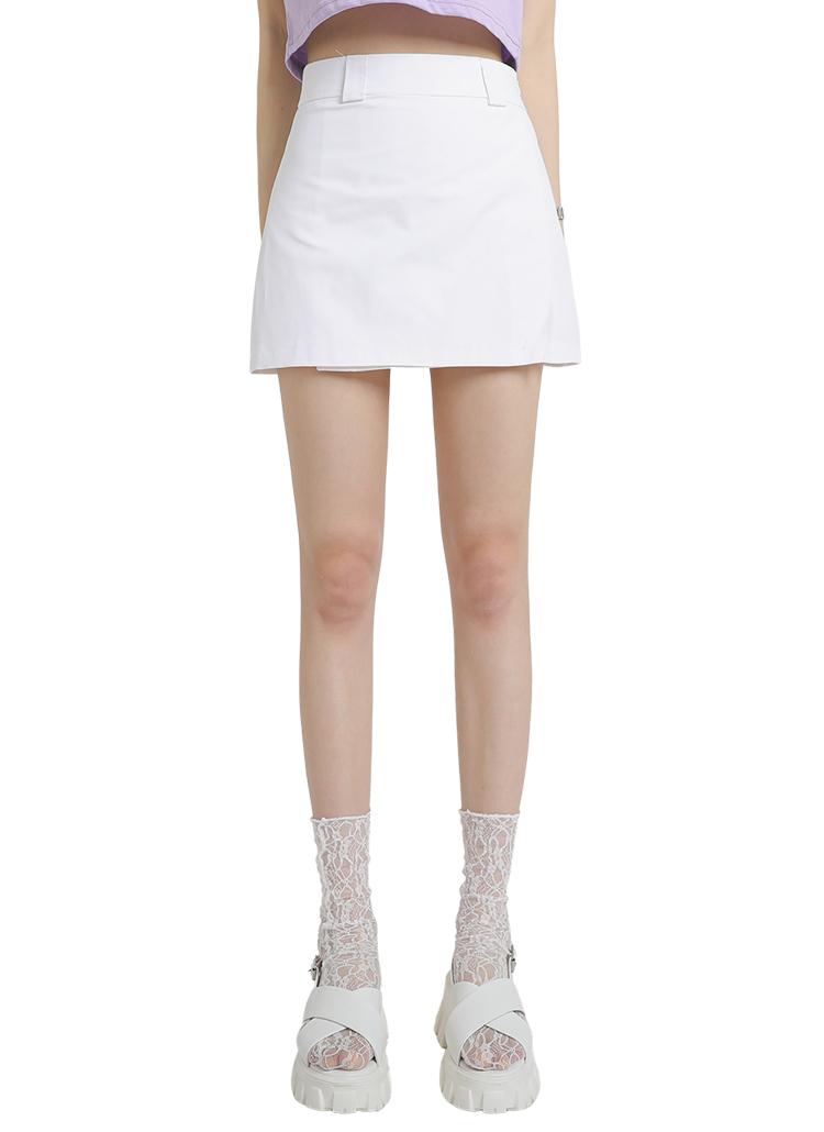 Aラインミニスカートパンツ