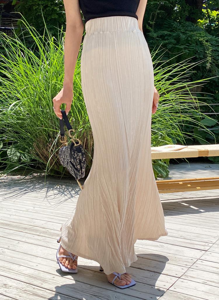 ウエストゴムプリーツスカート・全2色