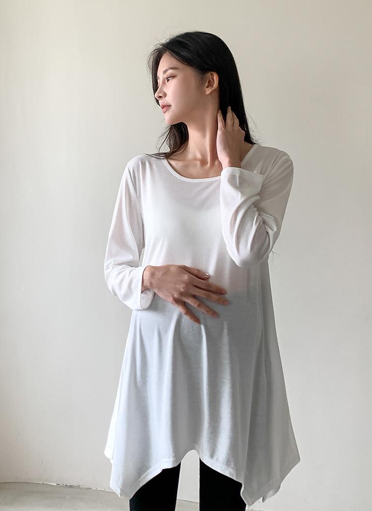 アンバランスフレアTシャツ(ホワイト)