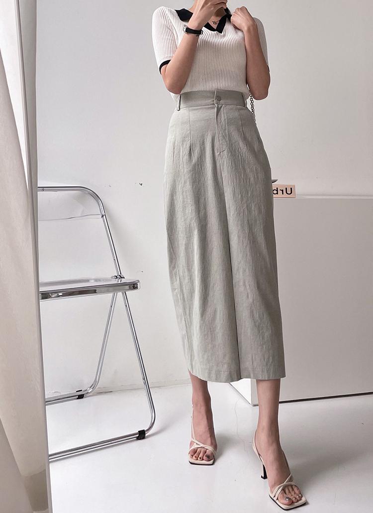 Hラインフロントスリットスカート