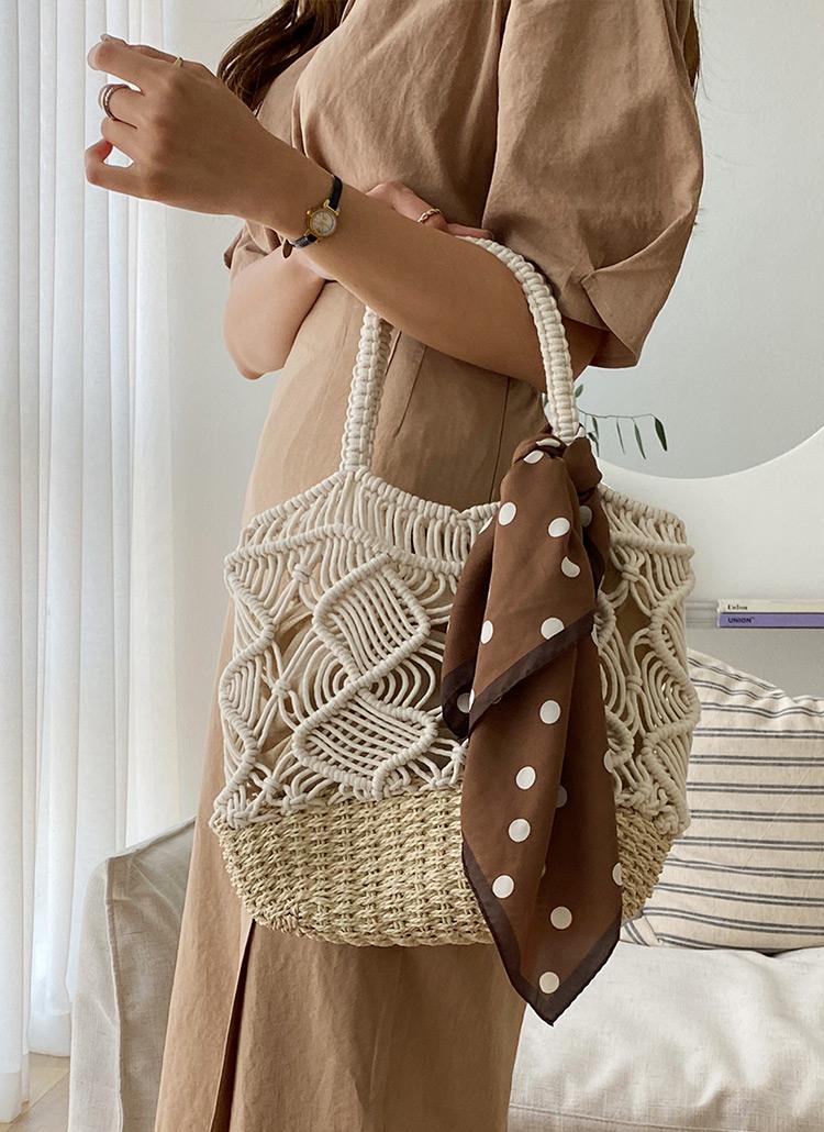 巾着付ネットバッグ・全2色