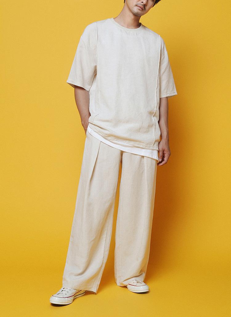 夏を満喫できるリネンウェア<br/>リネンピンタックTシャツSETUP