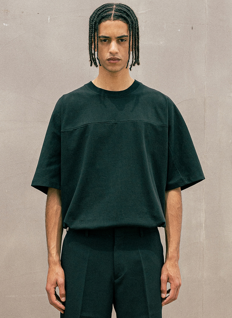 バックプレート半袖Tシャツ(BLACK)