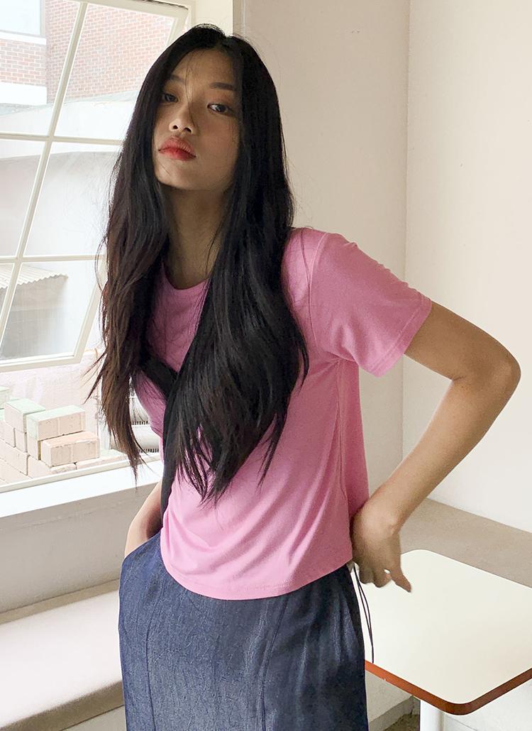 クロップド半袖Tシャツ