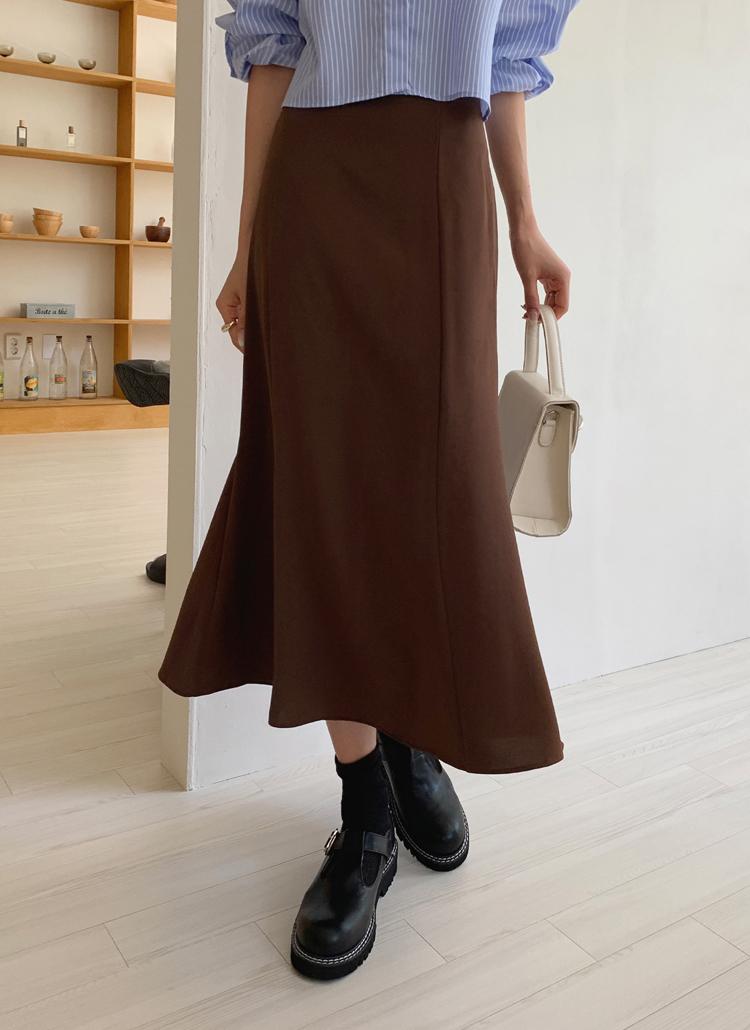 フレアロングスカート・全5色