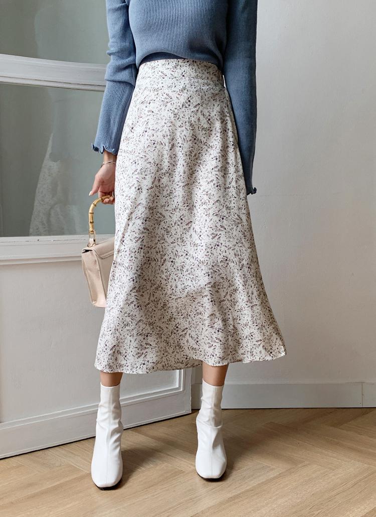 フラワーフレアスカート・全3色