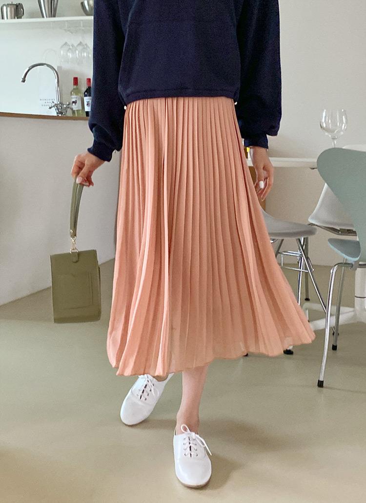 シフォンプリーツスカート・全7色