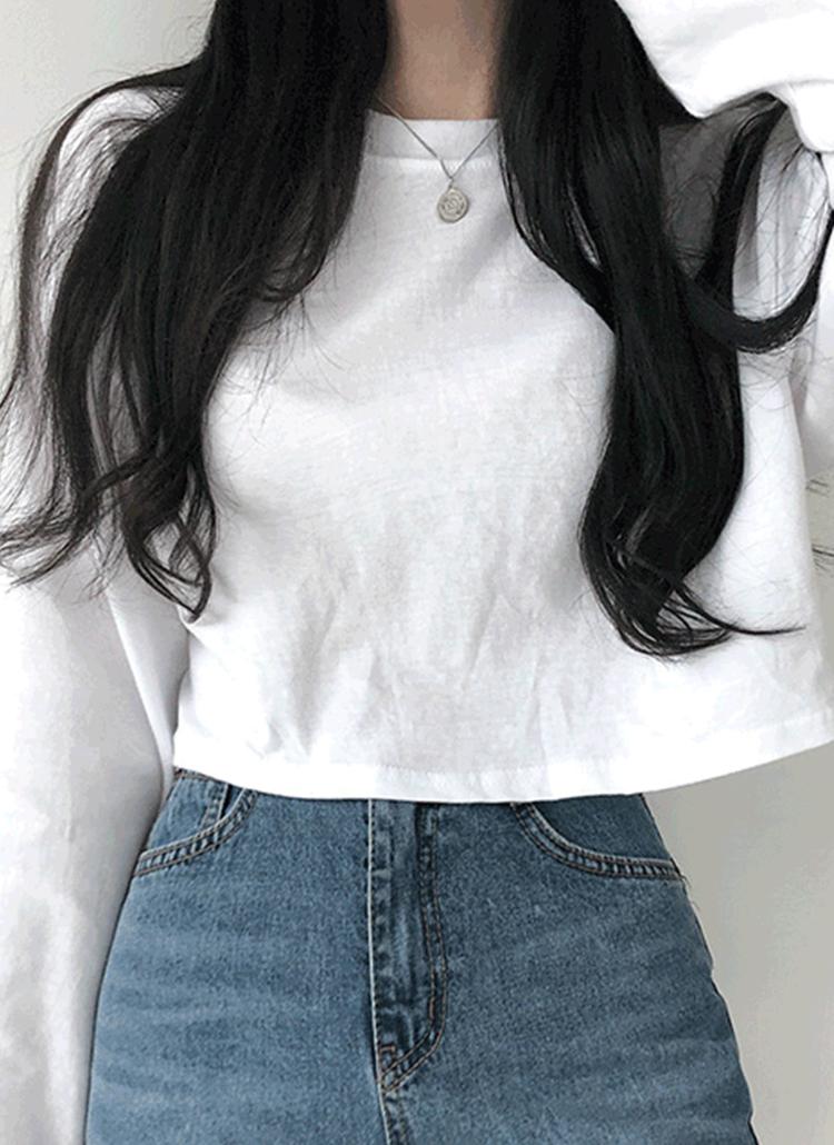 クロップドオーバーTシャツ