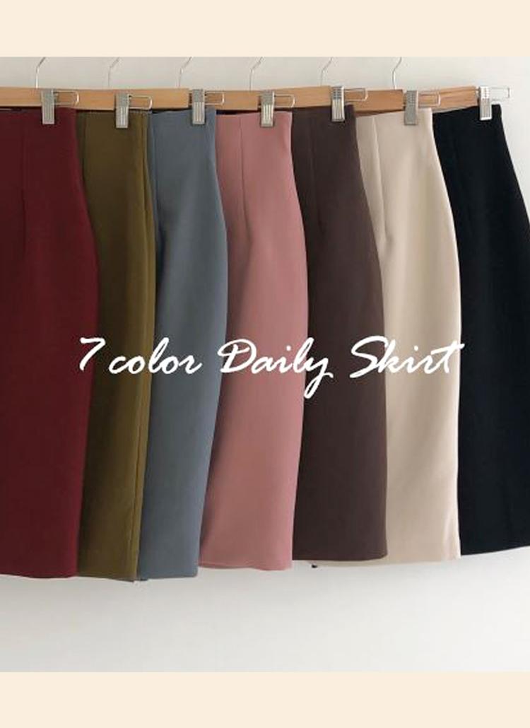 ミドルHラインスカート・全7色