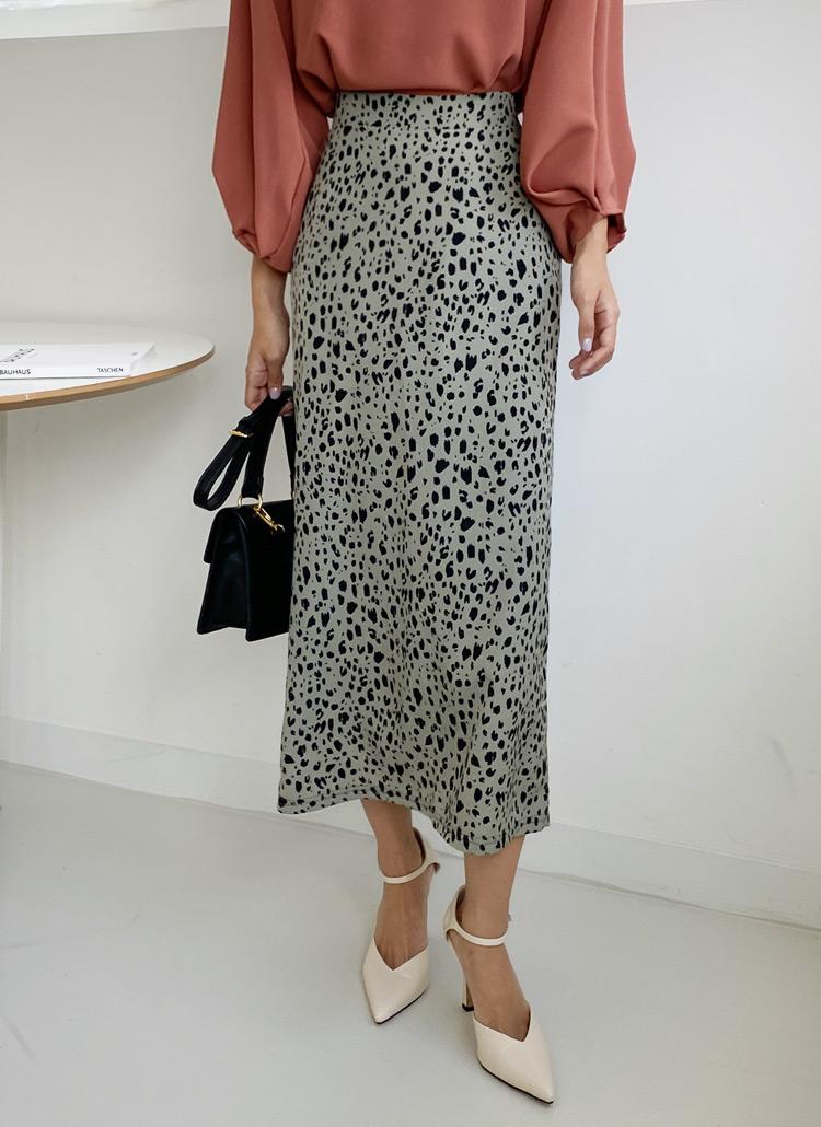 レオパードHラインスカート・全3色