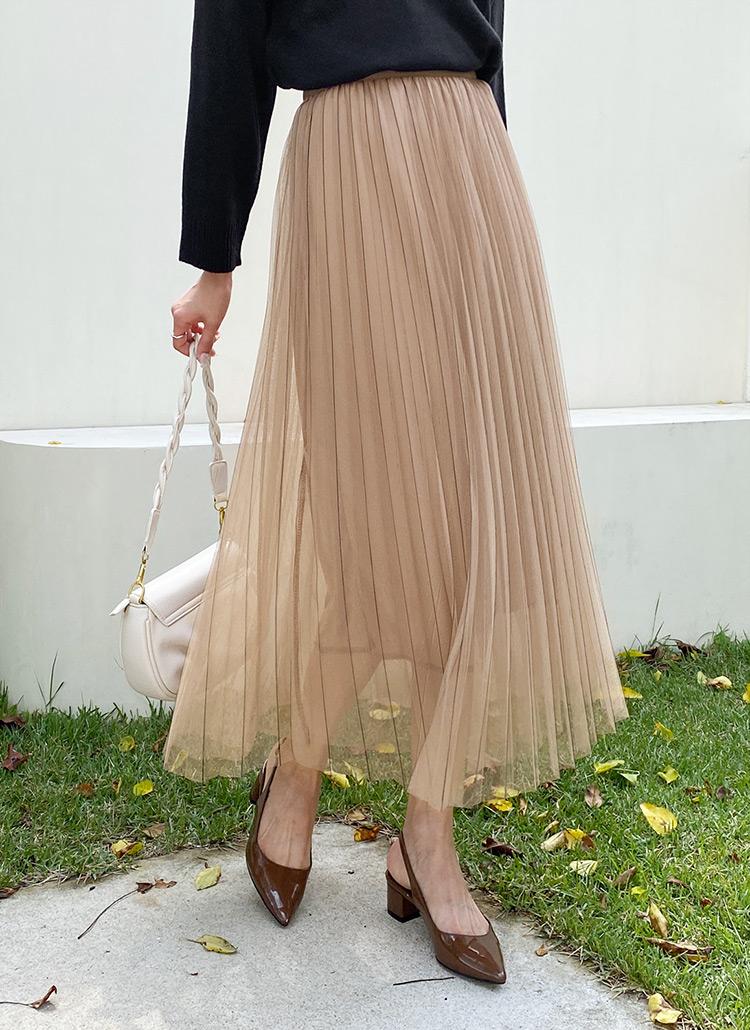 シフォンプリーツスカート・全4色