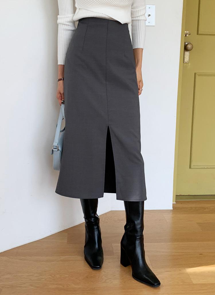 スリットHラインスカート・全3色