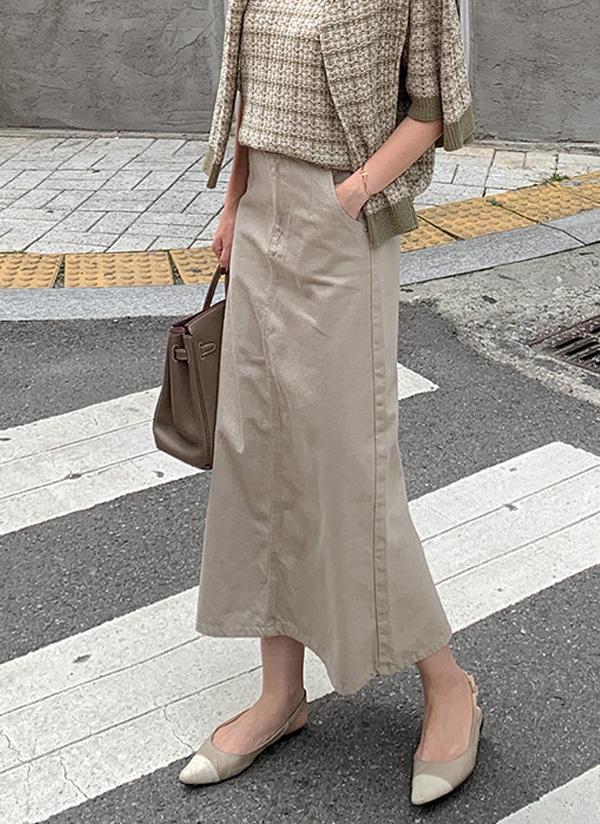 Aラインスリットロングスカート