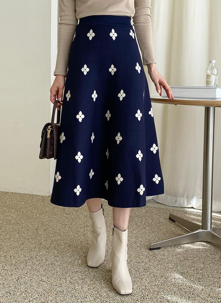 フラワーニットスカート・全3色