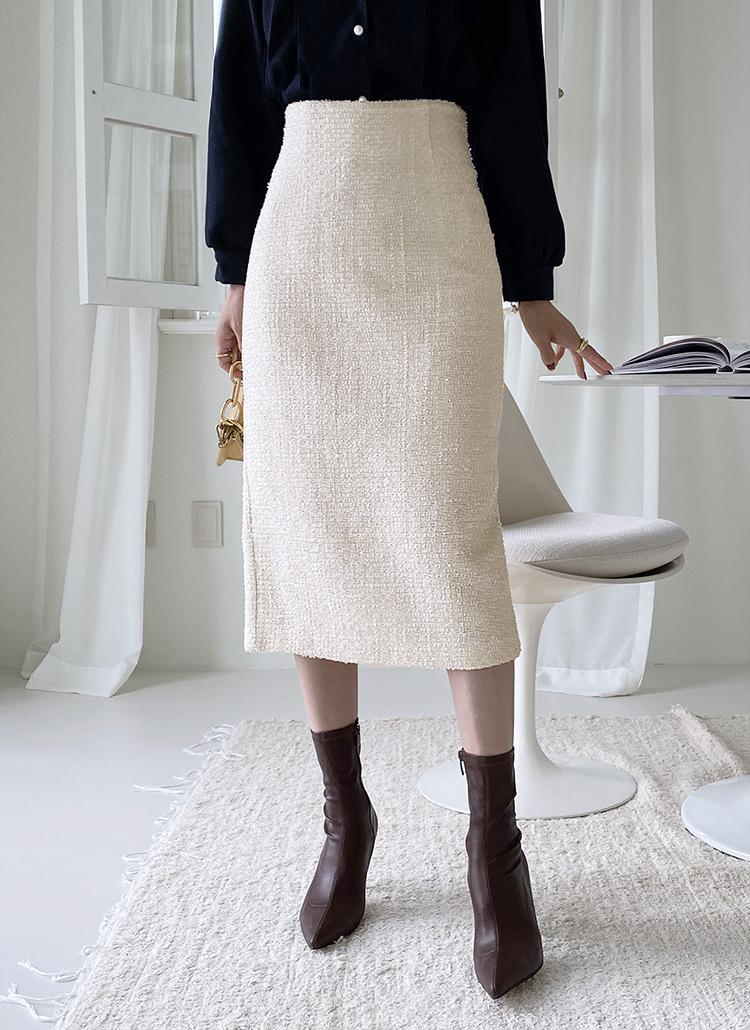 ツイードIラインスカート・全2色