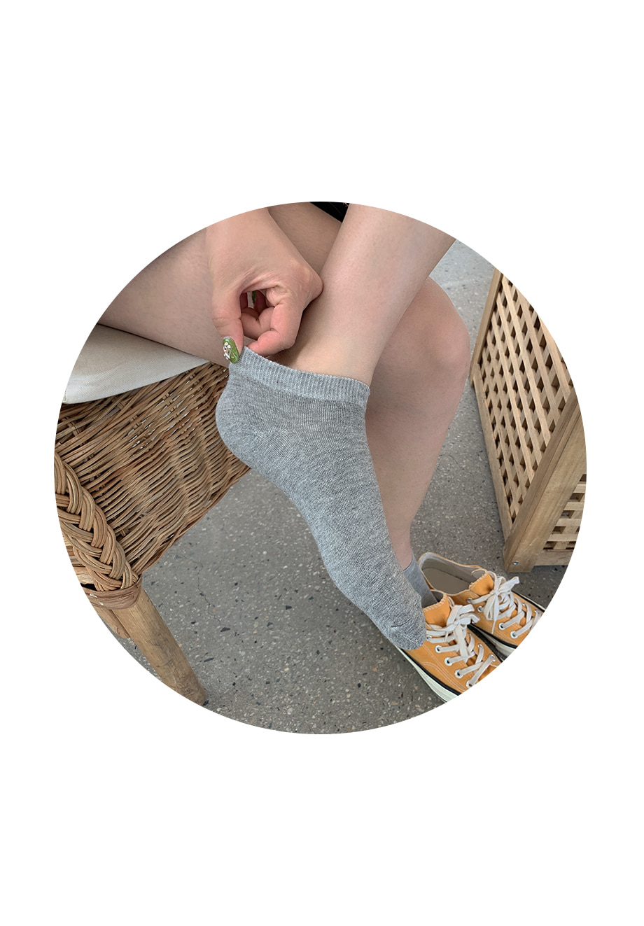 리리앤코 필수템 발목 양말