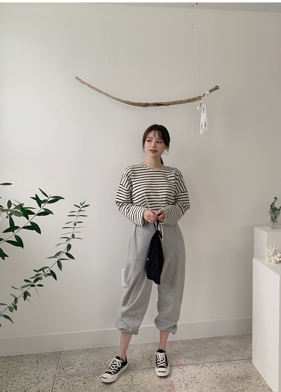 리리앤코 로브넌 밴딩 조거 트레이닝 팬츠