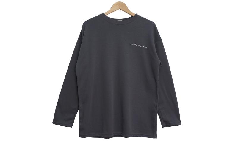 긴팔 티셔츠 차콜 색상 이미지-S1L6