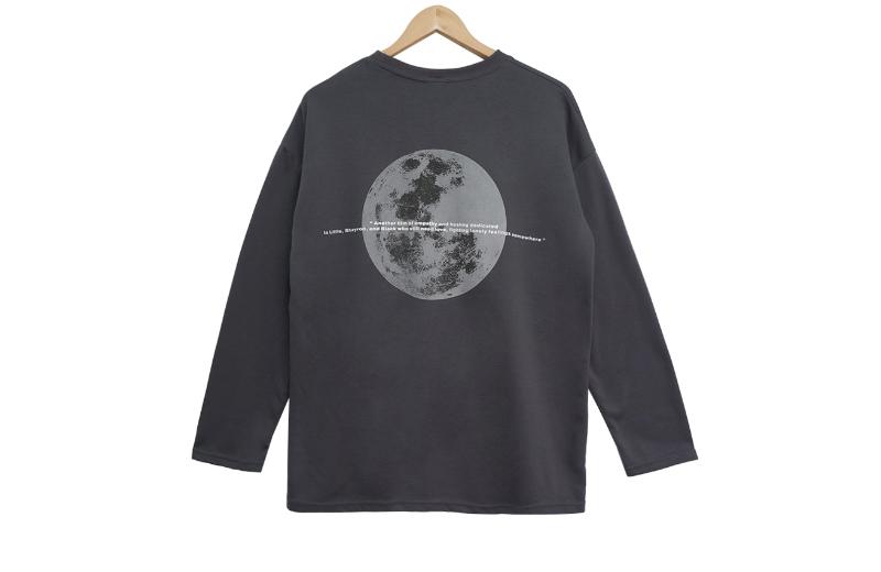 긴팔 티셔츠 차콜 색상 이미지-S1L7