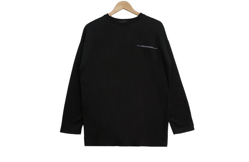 긴팔 티셔츠 카키 색상 이미지-S1L8