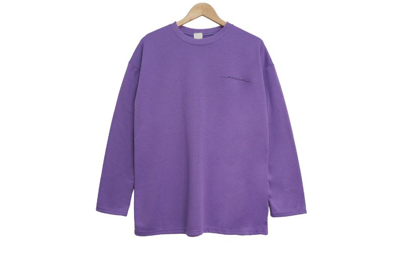 긴팔 티셔츠 바이올렛 색상 이미지-S1L9