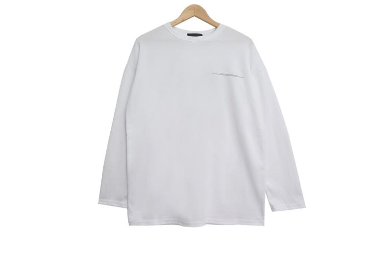 긴팔 티셔츠 화이트 색상 이미지-S1L10