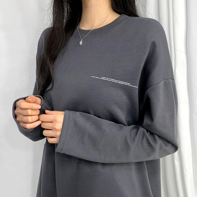 긴팔 티셔츠 모델 착용 이미지-S1L20